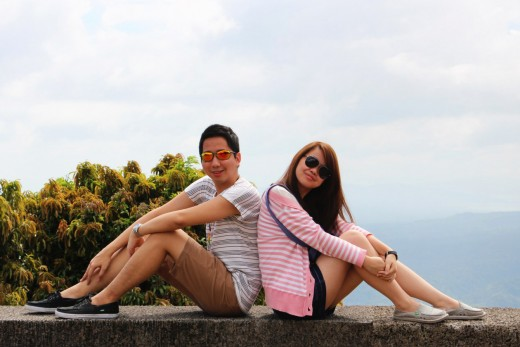 Me and my sister enjoying the place in Taal Vista Hotel