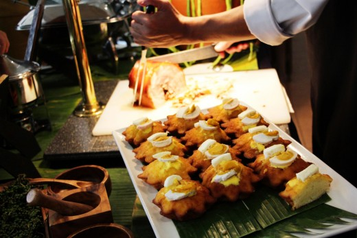 The delectable Bibingka which you can either eat for appetizer or dessert.