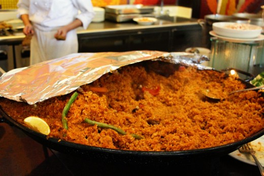 This is the Big Paella!  Trivia: Paella is a Spanish dish but has been adapted in Filipino cuisine