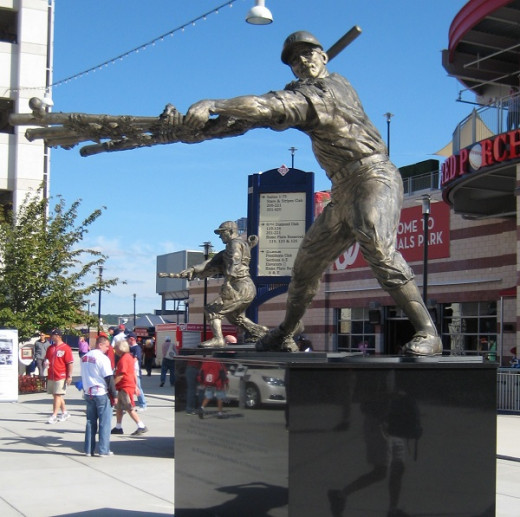 The statue of Frank Howard in the centerfield pavilion at Nationals Park
