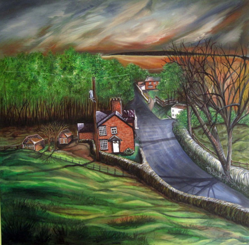 View From St James's Water Hilary Miller-Gough. The Yorkshire Palette Original landscape painting