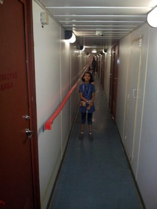Corridor of MV Kavaratti