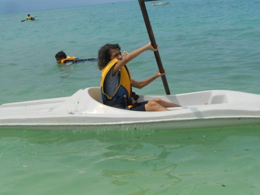 Kayaking at Kavaratti