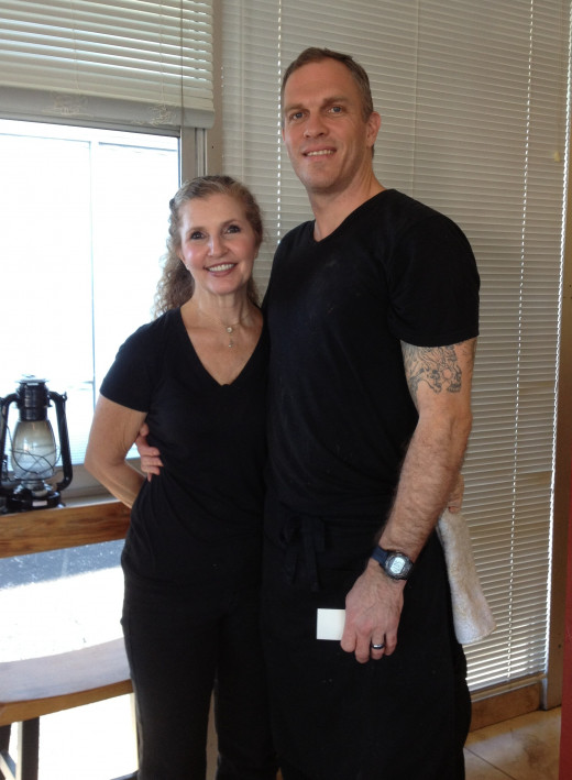 Husband and wife team, Scott and Elisa Caplan, enjoy greeting and meeting their customers.