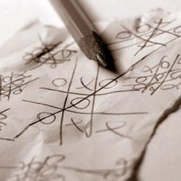 A piece of paper and a pen or pencil is all it takes for a quick round of tic tac toe.