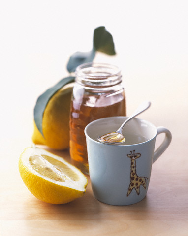 Lemon and honey may also be beificial while treating a cold.