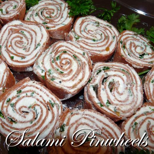 Salami Pinwheels make a fun and delicious appetizer.
