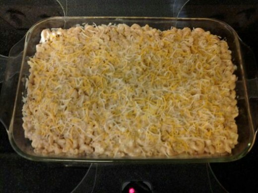 Mac and Cheese ready for the oven