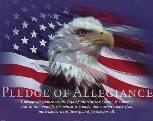 All Americans need to take the Pledge of Allegiance to GOD and our country!