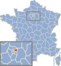 Map location of Seine-Saint-Denis department, France