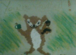 One of the chipmunk mosaic party invitations made by Esperanza
