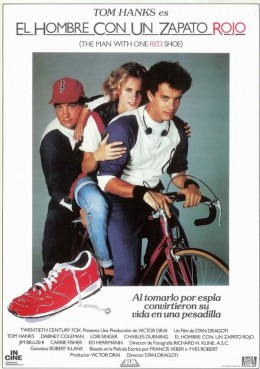 The Man With One Red Shoe (1985) Spanish poster
