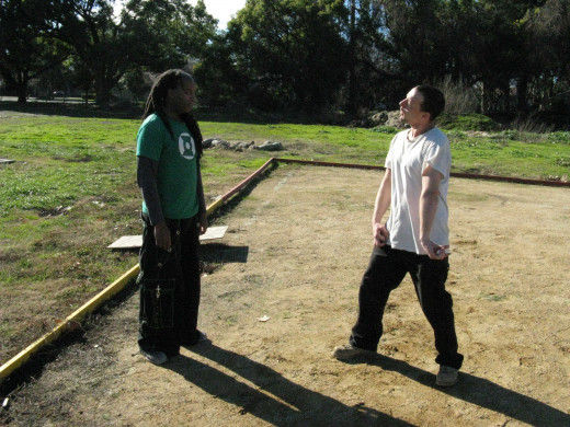 Glenn and Jamie demonstrate a Kenpo technique called Circling Destruction.