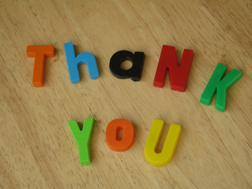Do not forget to send Thank You letter after they become reference