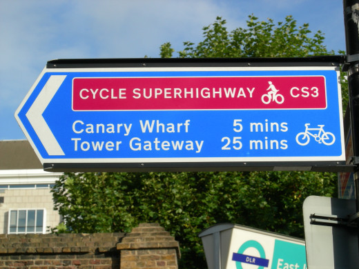 Cycle Superhighway Wayfinding Sign