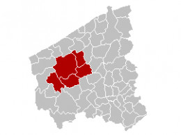 Map location of Diksmuide 'arrondissement'