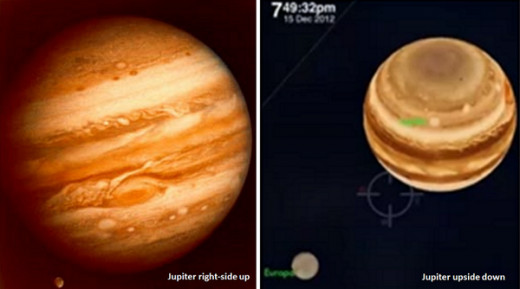 These photos have gone viral on the internet and clearly show Jupiter at an odd angle as seen from Earth.