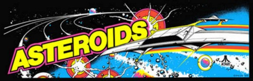 Asteroids Arcade Marquee