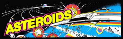 Asteroids Arcade Marquee