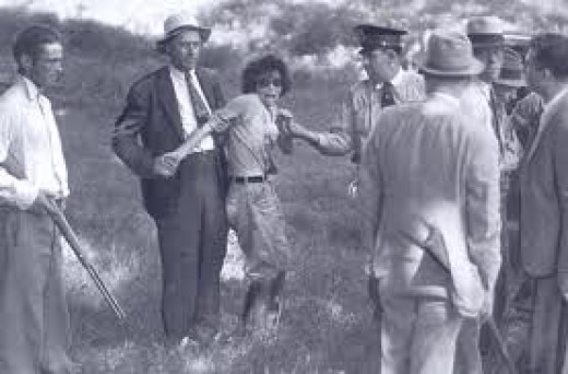 Blanche and Buck Barrow captured at Dexfield Park