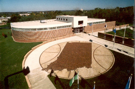 The Indiana Basketball Hall of Fame is located in New Castle