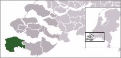Map location of Sluis municipality, Zeeland, The Netherlands