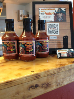 Don't forget to take home a bottle of the homemade sauce!  Choose from mild, medium, or extra hot.