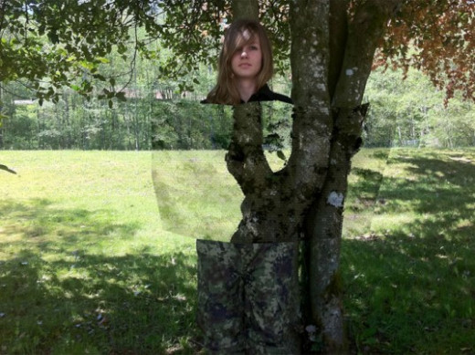 Examine this recent and popular picture of an invisibility cloak developed in BC, Canada that has the military world in a buzz. This is not a photoshop as there are plenty of other photos and evidence.