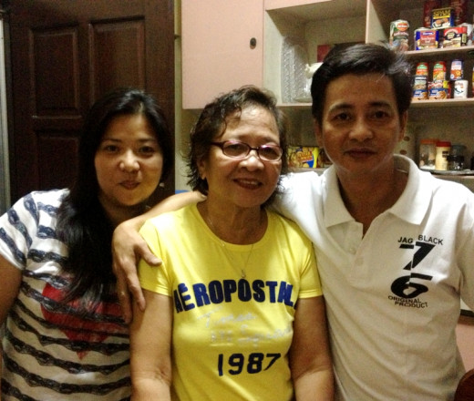 new year's eve with my mom and brother