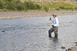 Fly Fishing on the Lamar River, Yellowstone National Park.