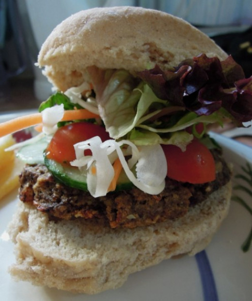 Many ingredients can be used in new and creative ways within a plant based diet. An example of this is this vegan mushroom burger.