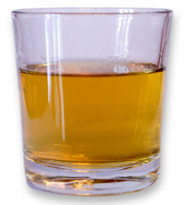 Whisky in the glass