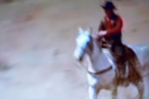 This is a faded screen shot of the classic western, The Virginian.