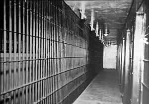 "Cell block 15 - ""Death Row."""