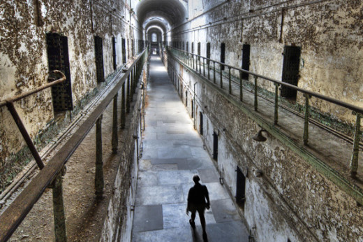 Inside Eastern State Penitentiary.