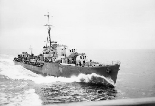 HMS Petard was the destroyer that captured the Enigma Codes, with the loss of two of her crew.