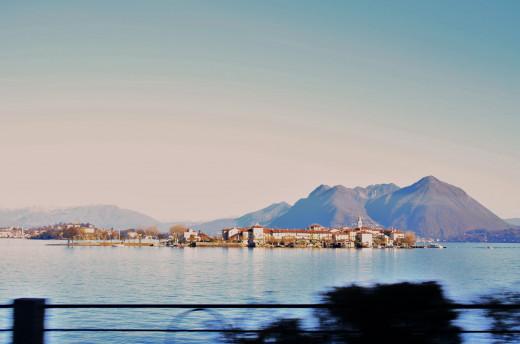 Isola Pescatori, Lago Maggiore, viewing in Baveno Promenade