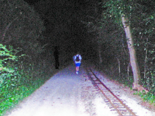 Shadow person caught in this photograph.