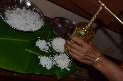 I had put banana leaf , in the idli maker to get a special flavour.. (it is optional)