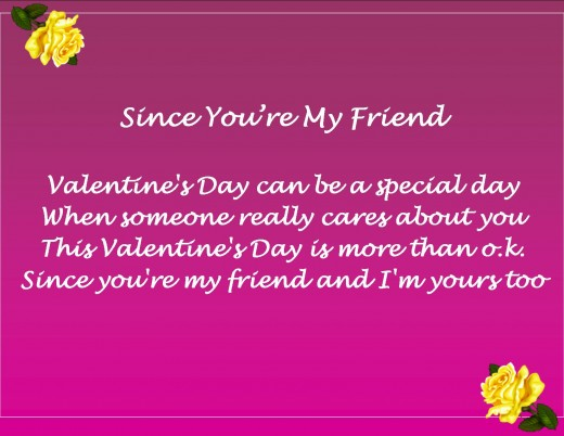 Friend valentine 39 s day messages poems and quotes for Valentine ideas for friends