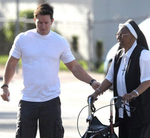If action man Mark Wahlberg can ditch his tough guy image to help an elderly nun to cross the street, so can you.