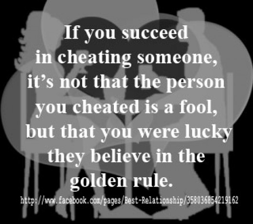 Cheating is breaking the golden rule
