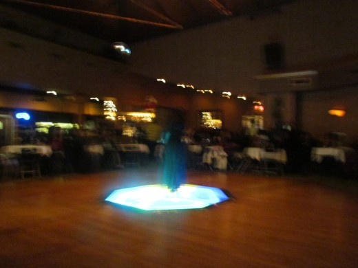 There is a spectacular lighting system that enhances the dance floor.
