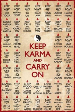 "Does the expression ""what goes around, comes around"" refer to karma?"