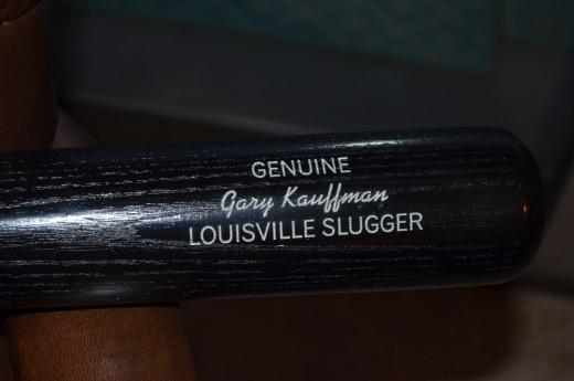 My personalized bat.