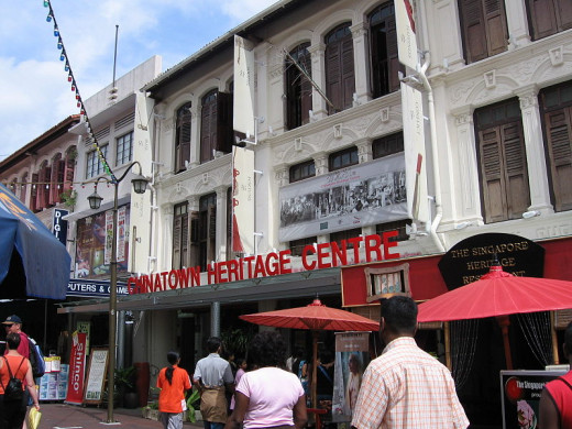 The Chinatown Heritage Centre at Pagoda Street occupies three shophouses