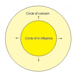 According to the theory circle of influence increases within proactive people. However, it can declines if we don't learn our lessons (of course, it is now easy...).