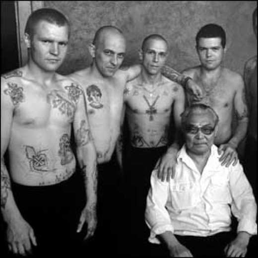 Danzing Baldaev and some of his 'friends'.