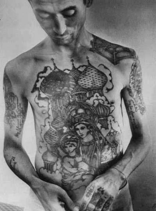 纹身的想法:惊人的和复杂的俄罗斯刑事监狱纹身