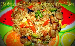 Healthy and Delicious Sausage Fried Rice